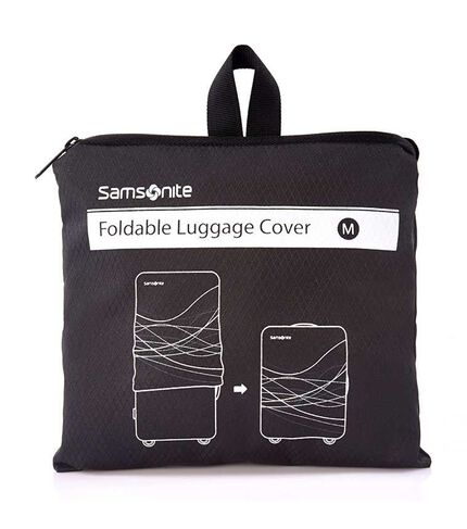 TRAVEL LINK ACC. FOLDABLE LUGGAGE COVER M BLACK main | Samsonite