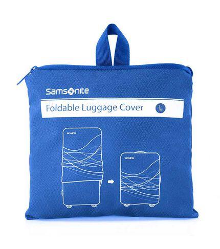 FOLDABLE LUGGAGE COVER L BLUE main | Samsonite