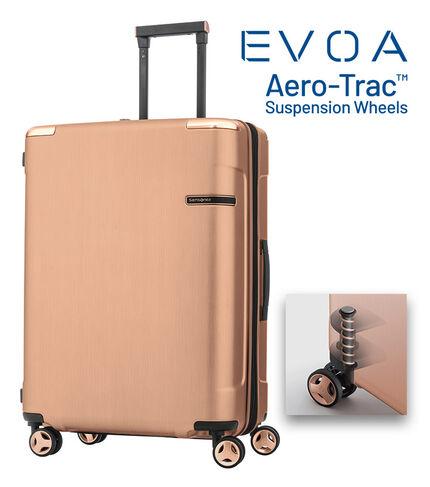 กระเป๋าเดินทางนวัตกรรมล้อแบบใหม่ Aero-Trac™ ล้อกันสะเทือน ลดการสั่นสะเทือน รุ่น EVOA ขนาด 25 นิ้ว ROSE GOLD main | Samsonite