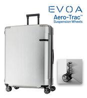 กระเป๋าเดินทางนวัตกรรมล้อแบบใหม่ Aero-Trac™ ล้อกันสะเทือน ลดการสั่นสะเทือน รุ่น EVOA ขนาด 28 นิ้ว BRUSHED SILVER main | Samsonite