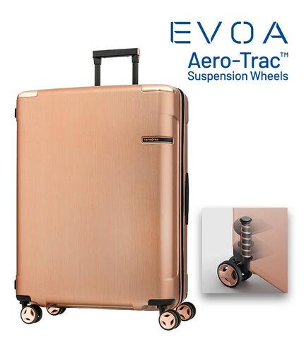 กระเป๋าเดินทางนวัตกรรมล้อแบบใหม่ Aero-Trac™ ล้อกันสะเทือน ลดการสั่นสะเทือน รุ่น EVOA ขนาด 28 นิ้ว ROSE GOLD main | Samsonite