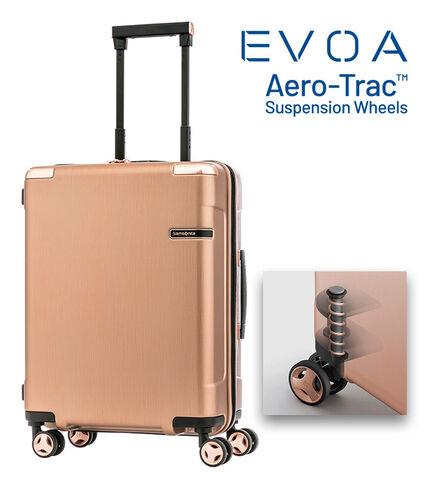 กระเป๋าเดินทางนวัตกรรมล้อแบบใหม่ Aero-Trac™ ล้อกันสะเทือน ลดการสั่นสะเทือน รุ่น EVOA ขนาด 20 นิ้ว ROSE GOLD main   Samsonite
