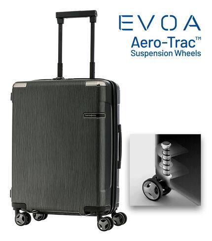 กระเป๋าเดินทางนวัตกรรมล้อแบบใหม่ Aero-Trac™ ล้อกันสะเทือน ลดการสั่นสะเทือน รุ่น EVOA ขนาด 20 นิ้ว BRUSHED BLACK main | Samsonite