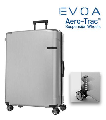 กระเป๋าเดินทางนวัตกรรมล้อแบบใหม่ Aero-Trac™ ล้อกันสะเทือน ลดการสั่นสะเทือน รุ่น EVOA ขนาด 30 นิ้ว BRUSHED SILVER main   Samsonite