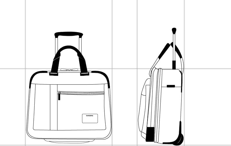 "OPENROAD ROLLING TOTE 16.4""  dimension 