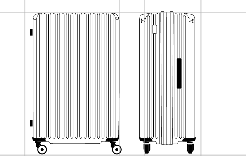 SBL FANTHOM SPINNER 76/28 EXP TAG  dimension | Samsonite